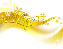 Golden christmas background. Stylish background, the vector image, an additional format available Stock Photos