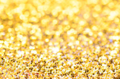 Golden christmas background Royalty Free Stock Photos