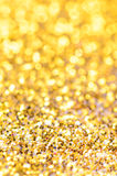 Golden christmas background Stock Images