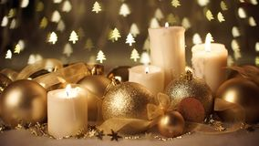 Golden Christmas background stock video footage