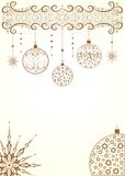 Golden christmas background with balls Royalty Free Stock Images