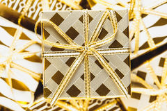Golden Christmas Background Stock Photography
