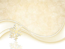 Golden Christmas background Stock Photos