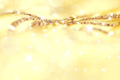 Golden Christmas background. With decorative elements Royalty Free Stock Photography