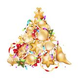 Golden Christmas background. EPS 10 Royalty Free Stock Photography
