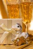 Golden christmas background Royalty Free Stock Photo