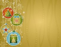 Golden christmas background,  illustration Royalty Free Stock Photo