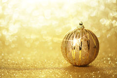 Golden Christmas background Royalty Free Stock Photo