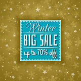 Golden christmas background and sale offer Stock Photos