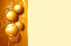 Golden Christmas background Royalty Free Stock Images