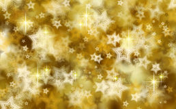 Golden christmas background . Golden Christmas background with stars royalty free stock photo
