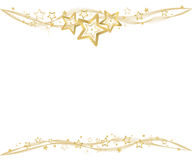 Golden christmas background. With stars and waves Stock Photos