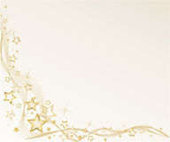 Golden christmas background. With stars and waves Royalty Free Stock Photography