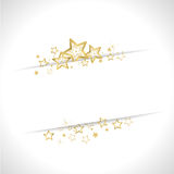 Golden christmas background. With stars and waves Stock Image
