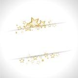 Golden christmas background Stock Image