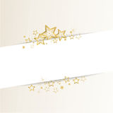 Golden christmas background. With stars and waves Stock Photography