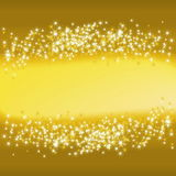 Golden Christmas Background. Vector Illustration Stock Photography