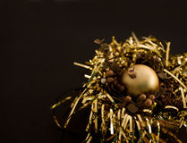 Golden christmas ball Royalty Free Stock Image