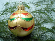 Golden christmas ball.  Royalty Free Stock Image