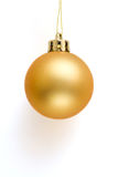 Golden Christmas Ball. Isolated on white background Royalty Free Stock Photos
