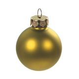 Golden christmas ball. A golden Christmas ball ornament stock photography