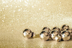Golden christmas ball background Royalty Free Stock Photography
