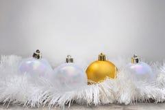 Golden christmas ball Stock Image