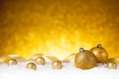 Golden christmas ball Royalty Free Stock Image