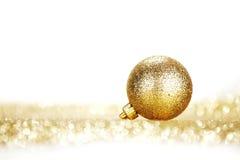 Golden christmas ball Royalty Free Stock Photography