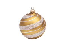 Golden christmas ball with glitter Stock Photo