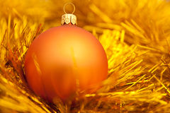 Golden christmas ball image. Golden christmas ball. holiday background stock photography