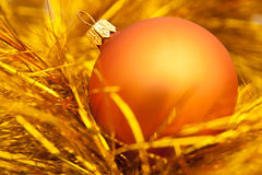 Golden christmas ball image. Golden christmas ball. holiday background royalty free stock photo