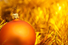 Golden christmas ball image. Golden christmas ball. holiday background stock photos