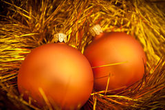 Golden christmas ball image. Golden christmas ball. holiday background royalty free stock images