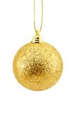Golden christmas ball isolated Royalty Free Stock Images