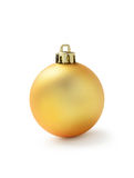 Golden Christmas ball Stock Images