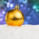 Golden Christmas ball Stock Photo