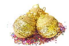 Golden Christmas ball Royalty Free Stock Photos