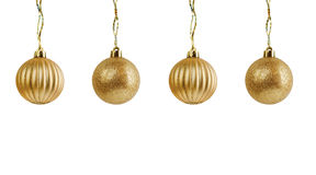 Golden christmas ball on white background Royalty Free Stock Image