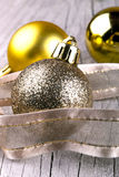 Golden christmas ball Royalty Free Stock Photography