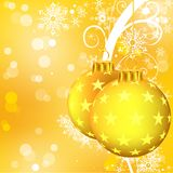 Golden Christmas Balls Stock Photo