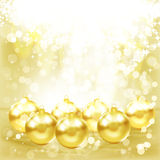 Golden Christmas balls. Royalty Free Stock Image