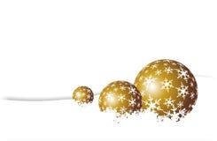 Golden Christmas Balls Royalty Free Stock Image