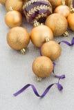 Golden christmas balls Stock Images