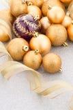 Golden christmas balls Stock Photography