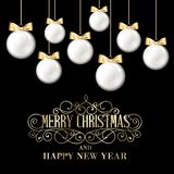 Golden christmas balls. Royalty Free Stock Images