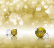 Golden Christmas Stock Photos