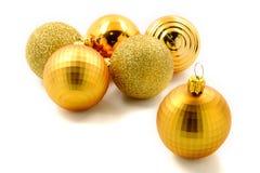 Golden christmas balls Stock Image