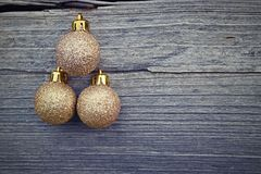Golden christmas balls Stock Image