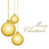 Golden  Christmas balls Royalty Free Stock Image
